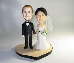 and groom figurines unique wedding cake topper personalized customm polymer clay