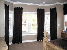 Drapery Designs For Bay Windows Ideas Wide Window Curtains Black Drapes Bay Window Ideas The Wide