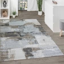 Schlafzimmer Teppich Rund Designer Teppich Wohnzimmer Webteppich Kariert Webteppich In Grau