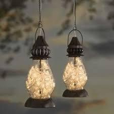 Ladybug Solar Garden Lights - ladybug solar color changing bottle lantern outside accent lighting