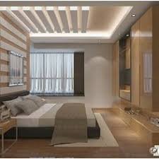 Creative False Ceiling Design For Bedrooms With Drywall LED Lights - Ceiling design for bedroom