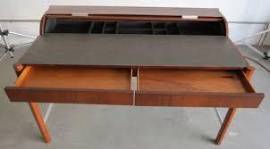leon mid century desk vintage hekman mid century modern desk with cylinder roll modernism