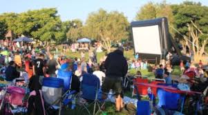 Backyard Movie Night Rental 20 Foot Inflatable Movie Screen U0026 Projector Rental San Diego
