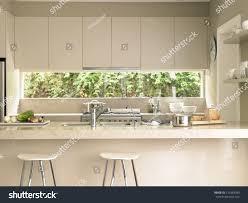 modern kitchen island stools bar stools by modern kitchen island stock photo 143383990