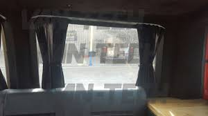 Van Window Curtains Interior Curtains Fitted To A Vw Transporter T5 Van Van Tech