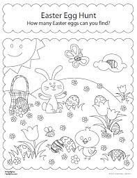 easter egg hunt coloring pages coloring