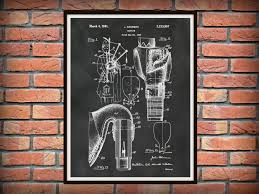patent 1941 bagpipes art print poster musical instrument