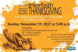 interfaith thanksgiving service central congregational church