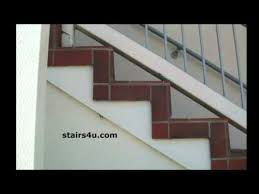 tile over exterior wood stairs office building remodeling youtube