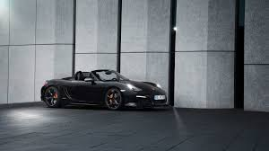 Porsche Boxster Black Edition - download wallpaper 3840x2160 porsche boxster black side view