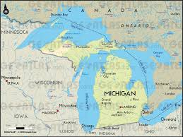 Detailed Map Of Michigan Filemap Of Usa Misvg Wikimedia Commons Michigan Map Map Of