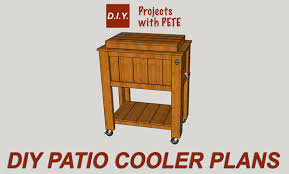 Free Woodworking Plans Patio Table by How To Build A Patio Cooler