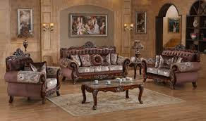 Traditional Livingroom by 637 Marbella Traditional Living Room Set In Rich Cherry By