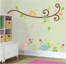popular wall decals tree branches buy cheap wall decals tree cute owl scroll tree branch 3d wall decals pvc wall stickers mural for kids nursery