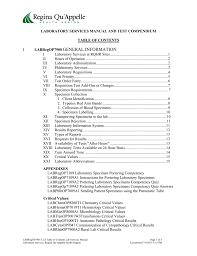laboratory services manual regina qu u0027appelle health region