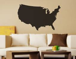 united states america usa map vinyl wall decal 6027