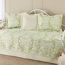 amazon com laura ashley 5 piece cotton daybed quilt twin set
