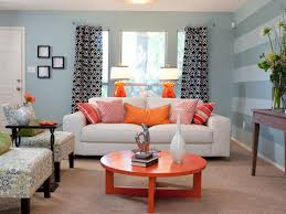 Curtain Color For Orange Walls Inspiration Livingroom Remarkable Indian Living Room Ideas Shining