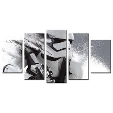 modern wall art stormtrooper canvas star wars movie poster print