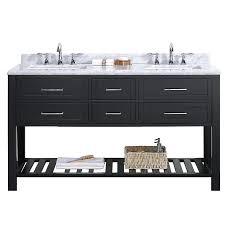 shop ove decors sarasota espresso undermount double sink bathroom