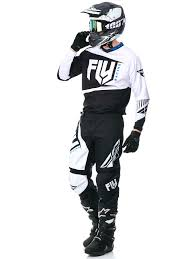 fly motocross gear fly racing black white 2017 f 16 mx jersey ebay