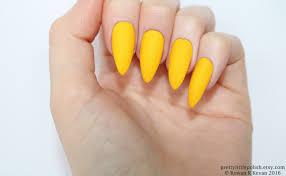 stiletto nails matte yellow stiletto nails fake nails press