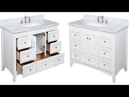 Bathroom Vanity Montreal 48 Inch Carrara White Bathroom Vanity With Italian Carrara