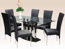 glass top dining room set dining table glass top 6 chairs home and furniture