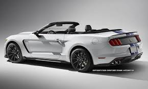 2014 Mustang Gt Convertible Black Ford Mustang Shelby Gt350 Convertible Rendered Gtspirit