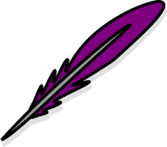 purple feather purple feather clip at clker vector clip online