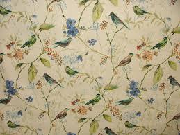 Roman Upholstery Prestigious Textiles Sapphire Birdsong Cotton Curtain Upholstery