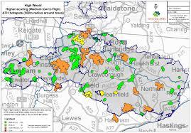 Iah Map The Woodland Trust News U0026 Events High Weald Ancient Tree