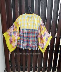 1x funky tunic shirt recycled patchwork style women u0027s