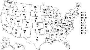 blank us map with electoral college numbers