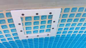Intex Pools 18x52 Installing A Thru Wall Skimmer In An Intex Pool Youtube