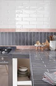 plan de travail carrelé cuisine plan de travail carrele cuisine décorétonnant carrelage pour plan de