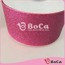 3 inch glitter ribbon whole sale 3 inch solid color shocking pink glitter grosgrain