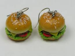 food earrings fast food earrings sterling silver hooks bamba
