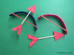 popsicle stick bow and arrow artxplorez