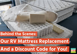 behind the scenes of our rv mattress replacement and a discount