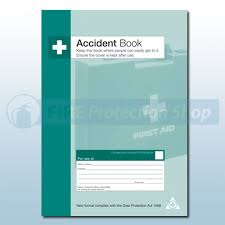 accident reporting book accident report book accident book fire protection shop