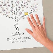 wedding tree oak wedding fingerprint tree guest book by new forest print