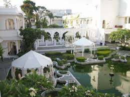 taj lake palace udaipur india what the interior courtyard of