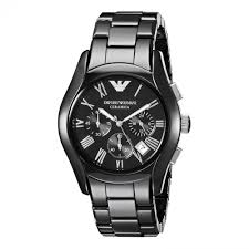 armani watches bracelet images Buy armani men 39 s emporio black ceramic roman dial bracelet jpg
