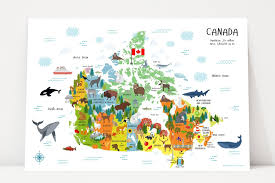 map of canada for poster canada map nursery decor