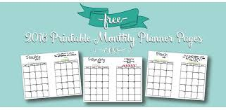 printable monthly planner 2016 free free printable 2016 monthly calendar a5 pages live craft eat