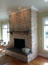 fireplace stone veneer installation cost natural over brick