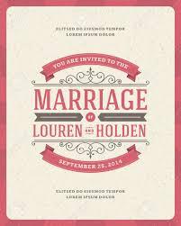 Marriage Invitation Card Templates Wedding Invitation Card Template Vector Vintage Background Retro