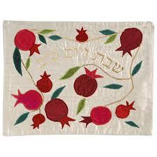 shabbat challah cover pomegranates silk shabbat challah cover by yair emanuel the
