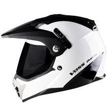 shark motocross helmets 600 dually dual sport helmet gloss white shark fin voss